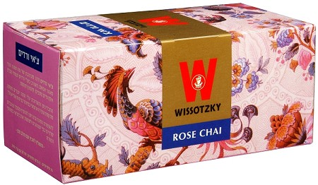 Wissotzky Tea Rose Chai / Box Of 25 Bags