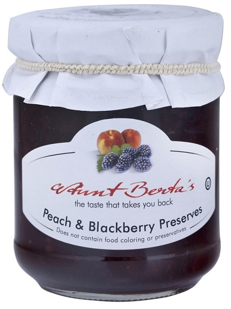Aunt Bertas Peach Blackberry preserve