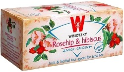 Wissotzky Tea Rose Hip and Hibiscus Tea / Box of 20 bags
