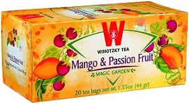 Wissotzky Tea Mango & Passion Tea Fruit / Box of 20 bags