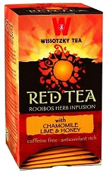 Wissotzky Tea Red Tea � Chamomile, Lime and Honey / Box of 20 bags