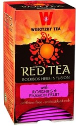 Wissotzky Tea Red Tea � Rose Hip and Passion Fruit / Box of 20 Bags