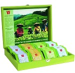 Wissotzky Tea Green Tea Chest, Assorted Tea Collection w/ 80 Assorted Green Teas