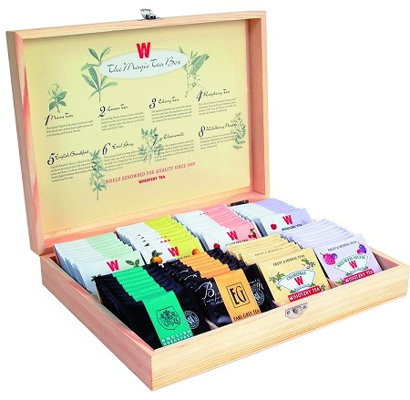 Wissotzky Tea Magic Tea Chest, Assorted Tea Collection w/ 80 Assorted Teas