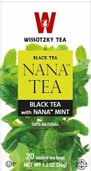 Wissotzky Tea Black Tea with Nana Mint Box Of 25 Bags