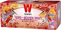 Wissotzky Tea Orange Cinnamon - Punch / Box of 25 bags