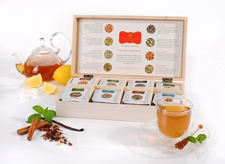 The Journey Collection Tea Lovers Assortment  - Limited Edition Deluxe Wooden Tea Chest