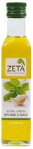 Zeta Extra Virgin Olive Oil with Basil & Garlic  250ml