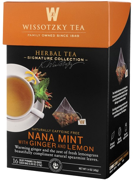 Wissotzky the Signature Collection Tea, Nana Mint with Ginger And Lemon, 16 C