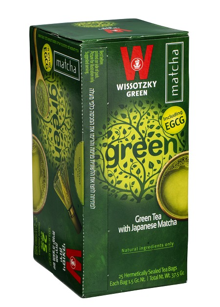 Green Tea with Japanese Matcha / Box of 25 bags
