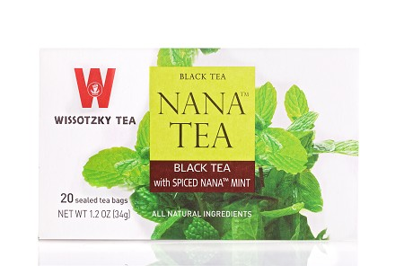 Wissotzky Tea Black Tea with Spiced Nana Mint, 20 Bags