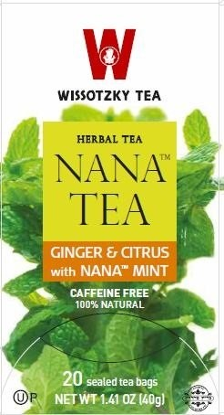 Wissotzky Tea Ginger & Citrus with Nana Mint, 20 Bags