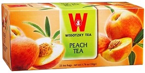 Wissotzky Tea Peach Tea /Box of 25 bags