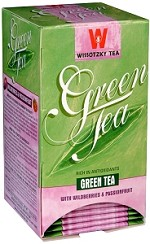 Wissotzky Tea Green Tea with wild berries and Passion Fruit / box of 20 tea bags