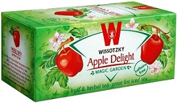 Wissotzky Tea Apple Delight  Tea /Box of 20 bags (Pack of 6)