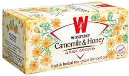 Wissotzky Tea Chamomile Honey Tea / Box Of 20 Bags Caffeine Free