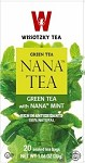 Wissotzky Tea Green Tea with Spearmint leaves (nana) Box Of 20 Bags