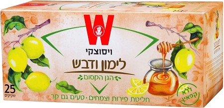 Wissotzky Tea Lemon & Honey / Box of 25 bags